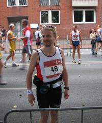 Ulf mit 33 vorm Marathonstart