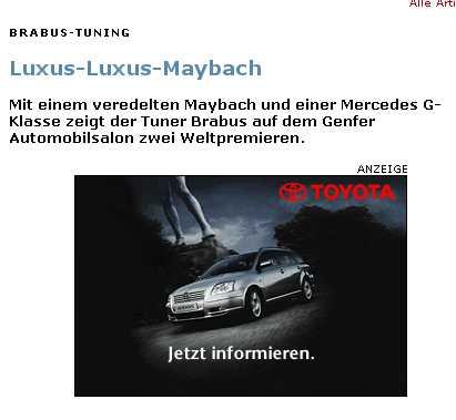 Screenshot von Spiegel Online